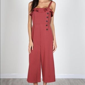 Pants - Burgundy Side Button Jumpsuit NWT!